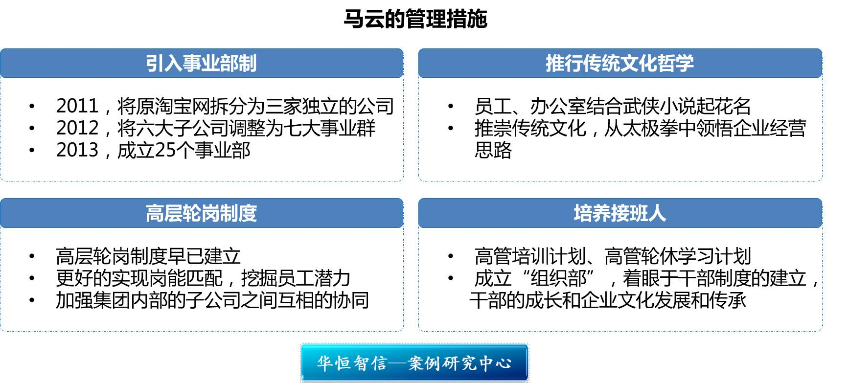 阿里巴巴事业部制组织结构图